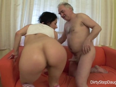 DiryStepdaughter  Sucking and Fucking  dads Cock