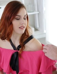 Hot redhead with tight ass and beautiful eyes is not what I expected to see at the casting where I replaced my good buddy Steve. He explained me how to pick up a sexy babe and make her ride my cock free. I couldn't miss the chance to practice his lessons with this hottie. At first, we talked and then I initiated a foreplay that the beauty enjoyed a lot. In a few minutes, the babe was already sucking my big cock and I licked her wet pussy. After tasting each other, we fucked in various poses. I came hard right on her beautiful face after another deepthroat blowjob.