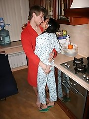 Cute Codi in her pajamas gets fucked in the kitchen