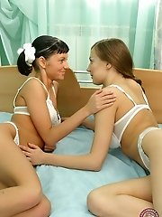 These young girls love playing with each other and can't refuse a chance to eat wet pussy